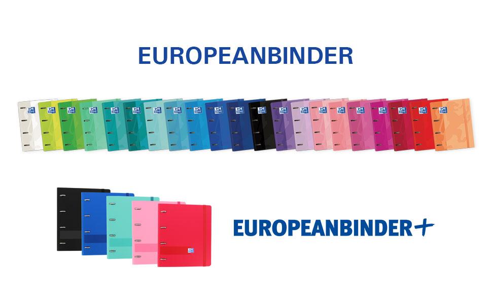 Europeanbinder Oxford, carpeta de anillas, recambio 5