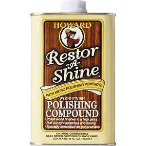 Amazon.com: Howard RS0016 compuesto de pulido restor-a-shine acabado de  madera de 16 onzas: Home Improvement