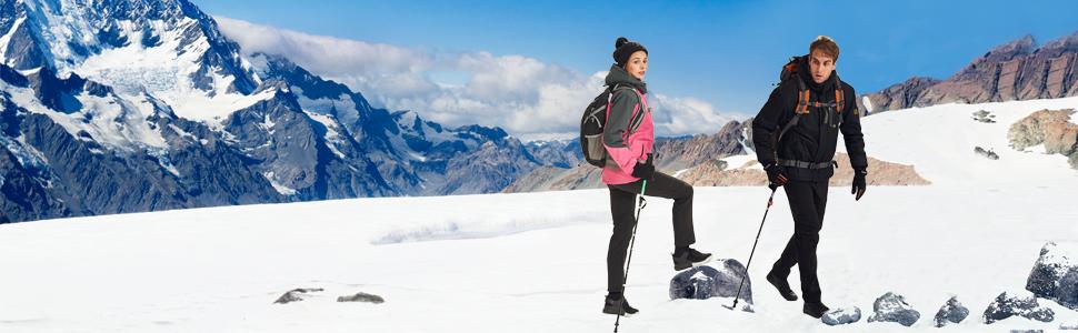 a1d9154f62 Amazon.com  Wantdo Women s Mountain Waterproof Ski Jacket Windproof ...