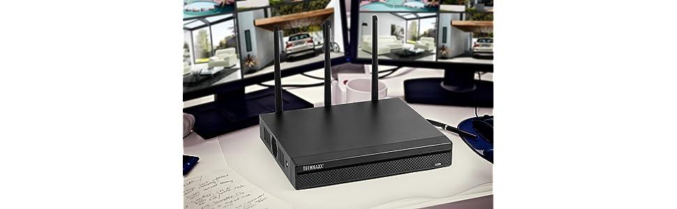 Kamera Pro Tx-64 Security de Amazon Nvr-rekorder Wifi Technaxx