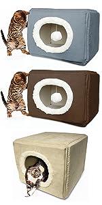 cozy cube; foam; pet house; dog; cat; bed