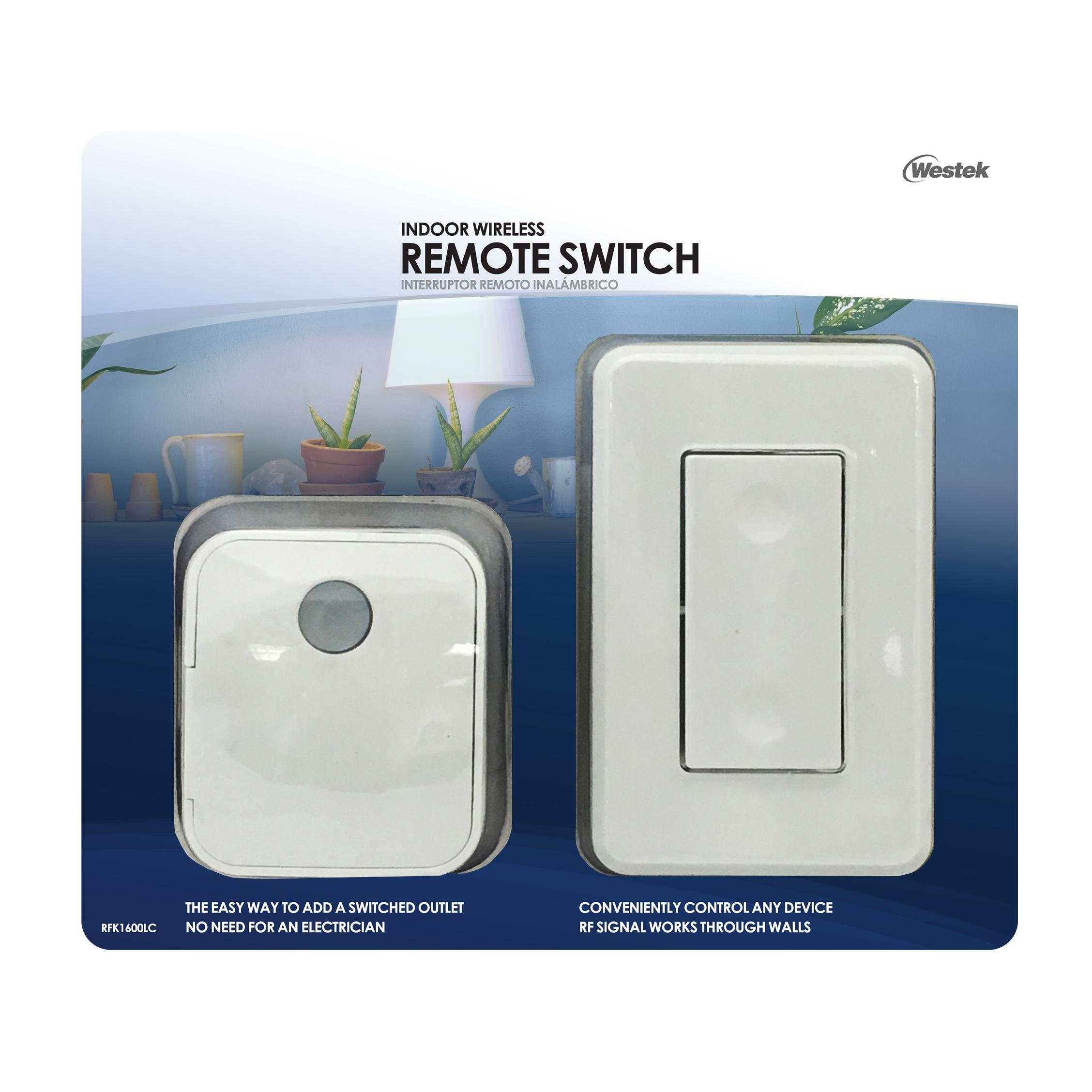 Westek RFK1600 LC Indoor Wireless Switch-1 Outlet - Wireless Light ...
