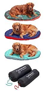 travel bed; stuff sack; bag; dog bed; cat bed; pet bed