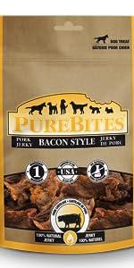 bacon; purebites; dog; treats