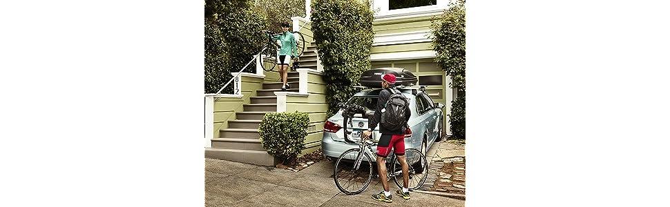 thule xpress hecktr ger f r 2 fahrr der auto. Black Bedroom Furniture Sets. Home Design Ideas