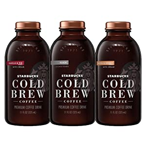 Starbucks Iced Coffee Black Unsweetened 11oz Bottles 8 Count