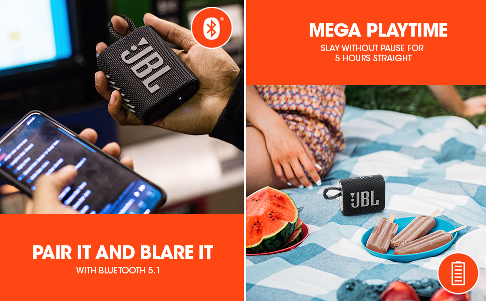 JBL GO3 Playtime, JBL GO3 Bluetooth 5.1
