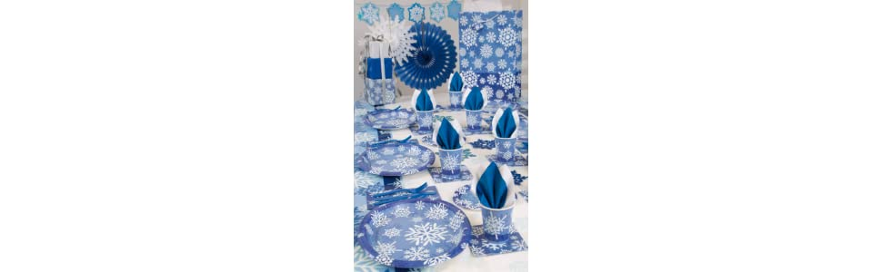 Snowflakes Holiday Plastic Tablecloth