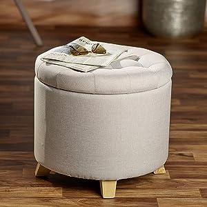 Echtwerk Sessel Milo mit R/ückenlehne kg 4 Grau 44 x 58 cm Gepolsterte Oberfl/äche