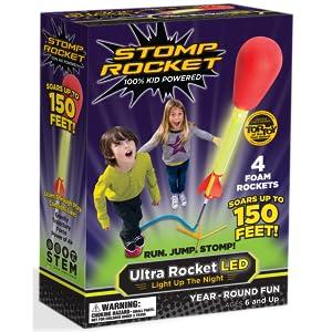 Stomp Rocket 20502 Ultra Rocket Led Refill Pack 2 Rockets Packaging May Vary