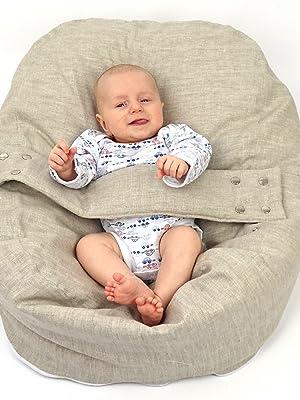 pucksack baby, baby nestchen, babywippe, liegekissen baby, baby sitzsack