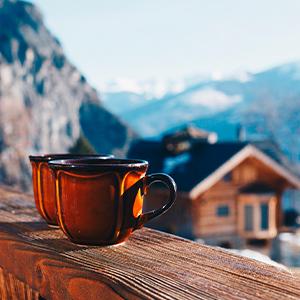 adjustabel coffee or tea heater plug in cup