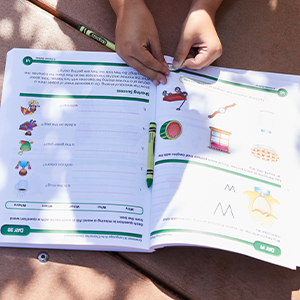 inside pages of the workbook