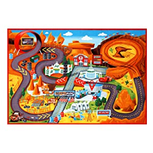 Cars 2 HD Play Rug; Size L