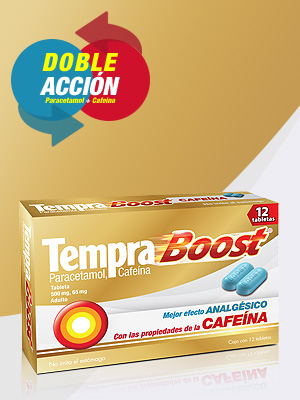 boost,doble acción, cafeina,paracetamol