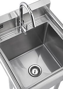 Amazoncom TRINITY TSL0301 Stainless Steel Utility Sink