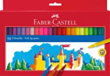 Faber-Castell 554250 - Estuche 50 rotuladores con punta de fibra, multicolor: Amazon.es: Juguetes y juegos