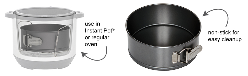 instant pot bake pan dessert pressure cooker accessories 6 quart 8 slow crock instapot insert quick
