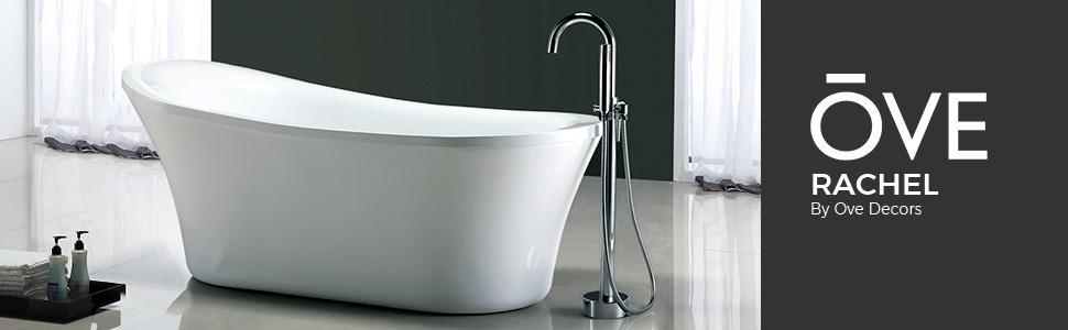 Ove Decors Rachel 70 Inch Freestanding Acrylic Bathtub