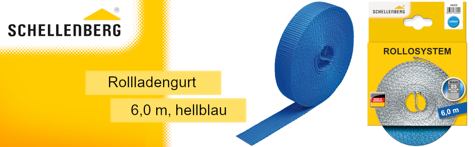 Schellenberg rolluikriem, rolgordijnriem, riem voor het omhoog en omlaag trekken van de rolluiken.