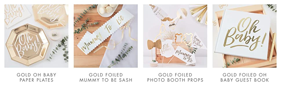 OH BABY! GUEST BOOK GOLD FOILED OH BABY