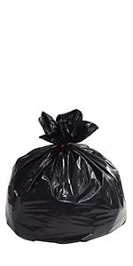 "22 1/2 x 24 1/2"" Black 7 Gallon Trash Liner"