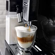 automatic milk frothing coffee machine