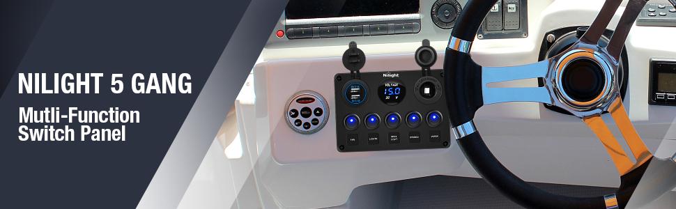 5 Gang Toggle Switch Panel