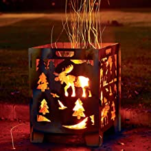 Amazon.com: Jaula de quemado de madera, barrica de ...