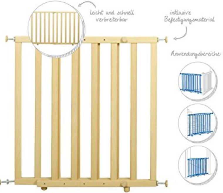 roba t rschutzgitter zum klemmen schutzgitter natur klemmgitter mit variabler breite 63 114 cm. Black Bedroom Furniture Sets. Home Design Ideas