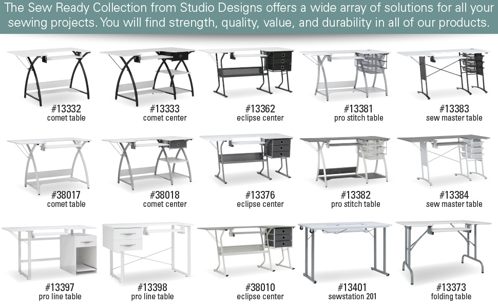 sewing table, sewing desk, sewing machine table, craft room, sewing room, sew ready, studio designs