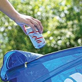 trash, bin, zippered, lid, coghlan's, outdoor, RV, cabin, storage, camping, recycle, compact, season