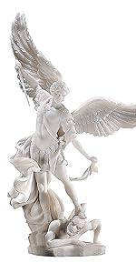 Statue en marbre de Saint Michael l'archange
