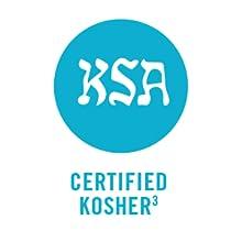 (3) Certified Kosher by KSA Kosher Supervision of America