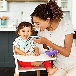 2 Cucharas multicolor Munchkin Recipiente para Conservaci/ón de Alimentos 4 bols//Tapa