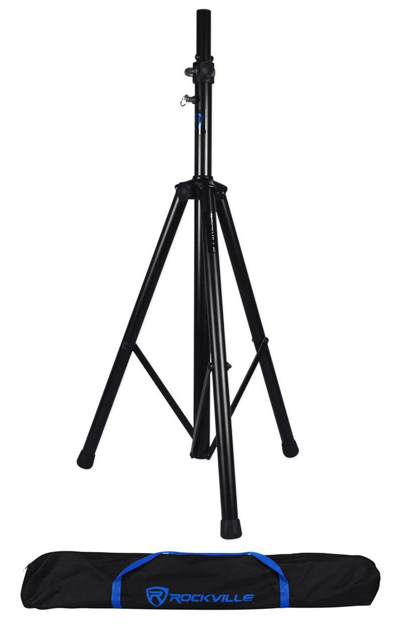 rockville dj pa tripod speaker stand bag hydraulic auto lift lowering rvss4ab. Black Bedroom Furniture Sets. Home Design Ideas