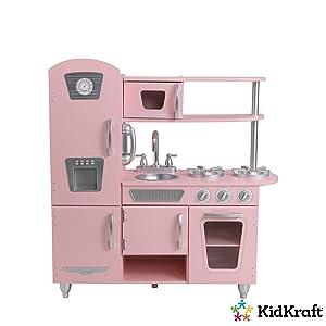 Kidkraft 53179 Cuisine Enfant En Bois Pink Vintage Jeu D Imitation
