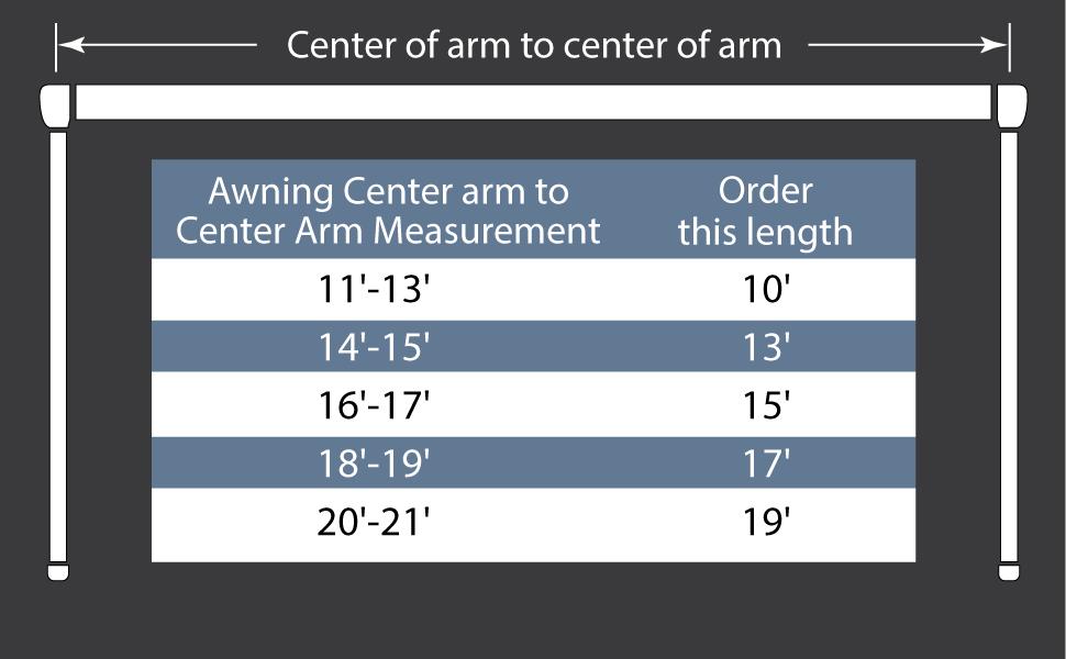Center arm, awning, EZ Zip Blocker, shade, sun, camping, camper, RV, awning
