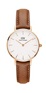 dw, daniel wellington, petite durham, italian leather watch, small leather watch