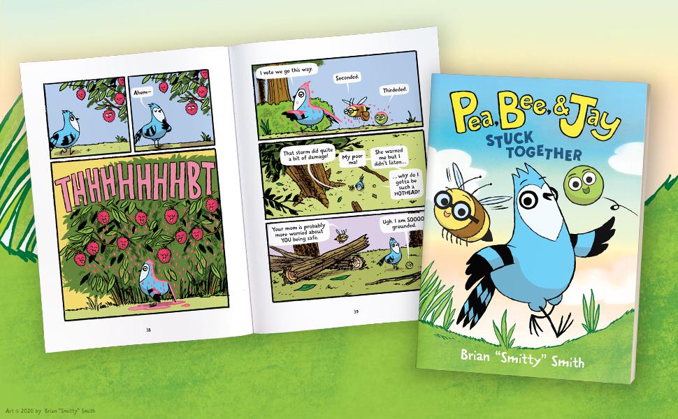pea bee jay, graphic novel, comic