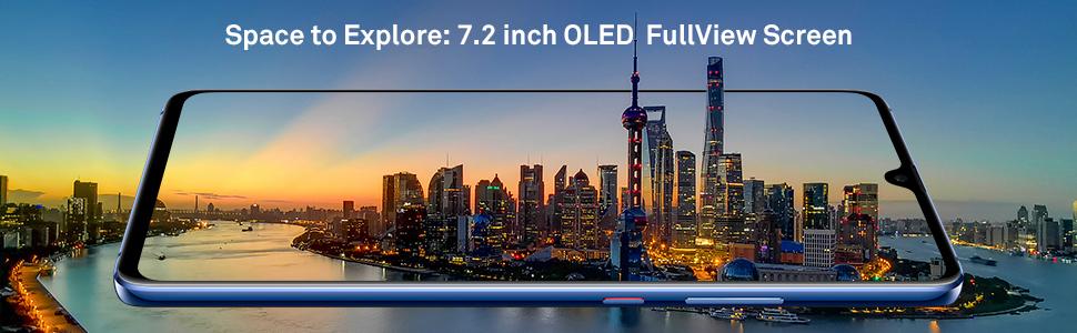 "7.2"" oled fullview large screen"