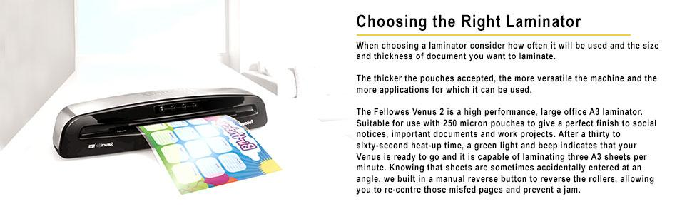 fellowes voyager a3 laminator instructions