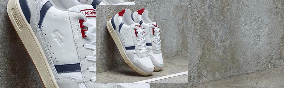 Nuove sneaker bianche da uomo Lacoste T-Clip