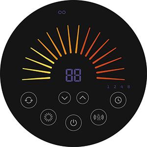 Honeywell HCE646BE2 Calefactor cerámico ComfortTemp con Sensor de Movimiento