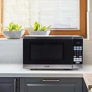 small apartment, 700 watt, stainless steel, Popcorn, Pizza, Frozen Dinner, Beverage, Reheat