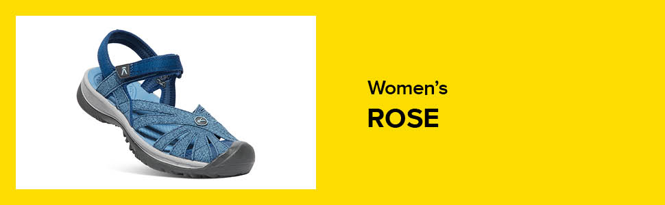 womens rose closed toe water sandal hero blue