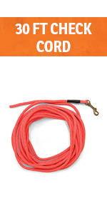 Training check cord long leash 30 feet control