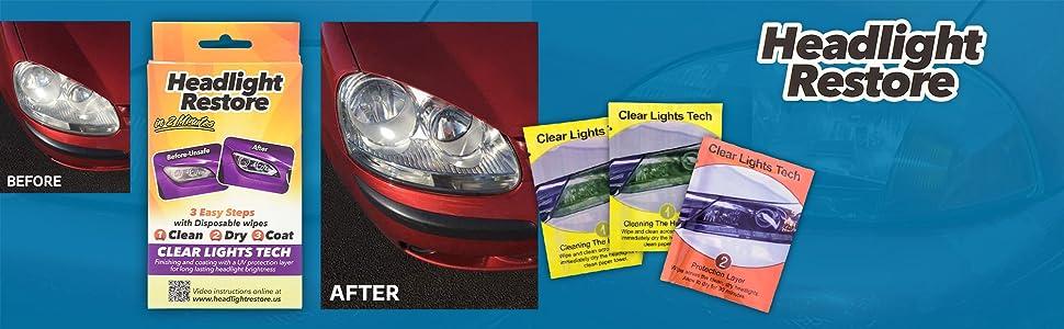 Headlight Restore kit wipes