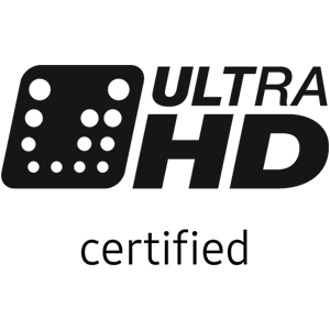 QLED Ultra HD certifified for 4K UHD logo