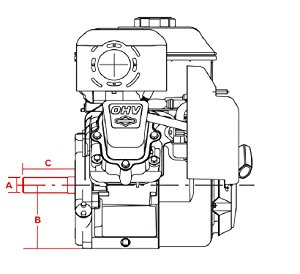 amazon com briggs \u0026 stratton 21r707 0011 g1 10 5 gross hp engine 20 HP Vertical Shaft Engine horizontal and vertical shaft engines
